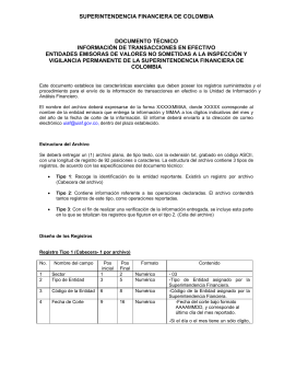 DOCUMENTO TÉCNICO - Superintendencia Financiera de Colombia