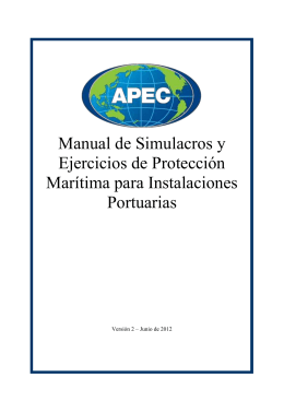 APEC Manual of Maritime Security Drills and Exercises for Port