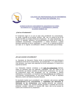 ACUERDO 286 DE LA SEP PARA ACREDITAR CONOCIMIENTOS