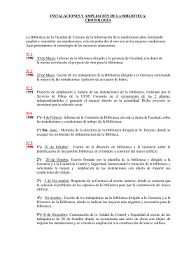 AMPLIACIÓN DE LA BIBLIOTECA: