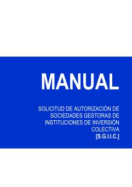 MANUAL - Comisión Nacional del Mercado de Valores