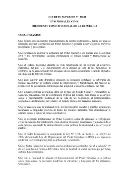 decreto supremo 28631 - registro internacional boliviano de buques