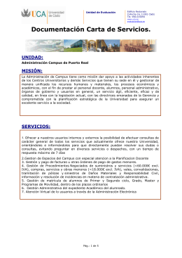 Documentación Carta de Servicio