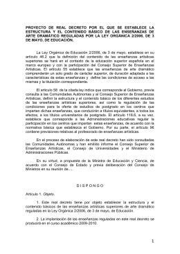 APUNTES PARA LA ELABORACION DEL DECRETO: CURRICULO