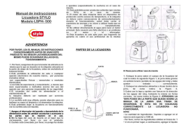 Manual de instrucciones Licuadora Home Tech