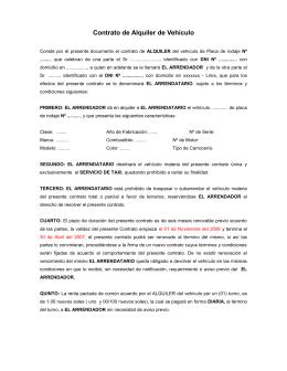 Contrato de arendamiento de plaza de garaje - Contrato de alquiler de garaje ...