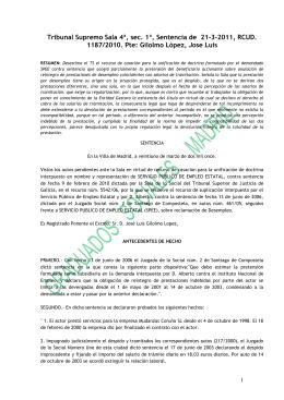 MEMORIA DE LA VICEPRESIDENCIA DE EJERCIENTES LIBRES