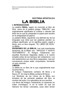 DOCTRINA APOSTOLICA