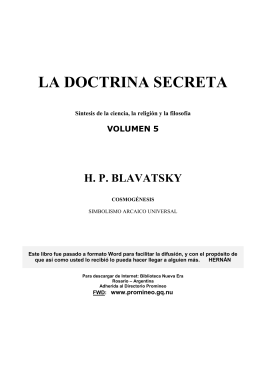 La Doctrina Secreta 5
