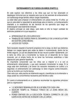 ENTRENAMIENTO DE FUERZA EN NIÑOS (PARTE 2).