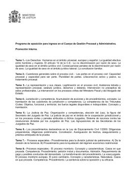 Programa oposiciones gestión 2013