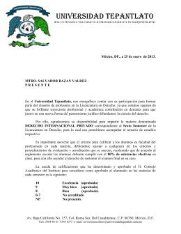 CARTA derecho Internacional Privadoves