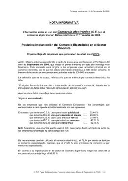 Comercio electrónico NOTA INFORMATIVA  (C.E.)