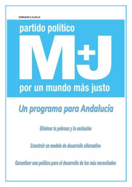 PROGRAMA ELECCIONES COMUNIDAD AUTONÓMA DE