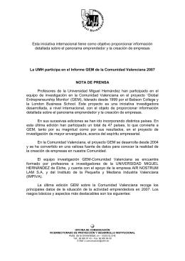 04-11-08-Informe GEM Comunidad Valenciana
