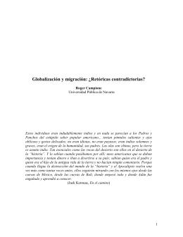 Los procesos de globalización y la migración transnacional