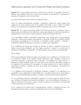 Disposiciones aplicables de la Constitución Política del Estado de