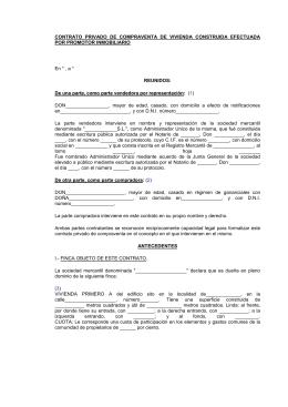 Contrato privado de compraventa de finca urbana for Busco piso compra