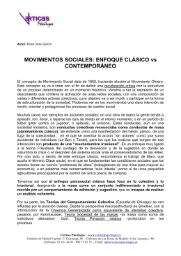 Movimientos Sociales - Enfoque Clásico vs Contemporáneo