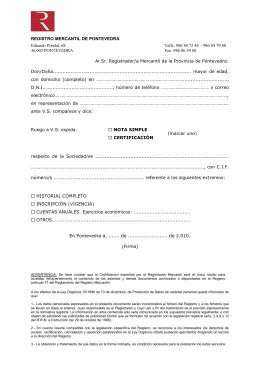 Solicitud de certificaci n registro mercantil de barcelona for Registro de bienes muebles de valencia