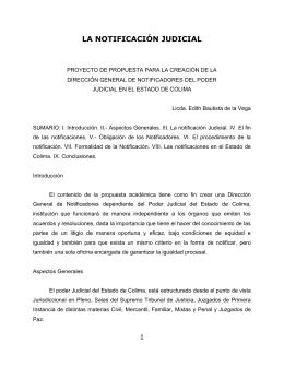 DIRECCIÓN GENERAL DE NOTIFICADORES