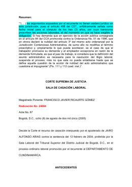 CORTE SUPREMA DE JUSTICIA - Gobernación de Cundinamarca