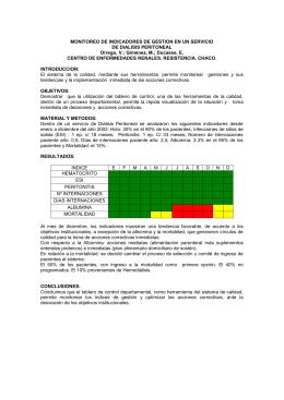 monitoreo de indicadores de gestion en un servicio