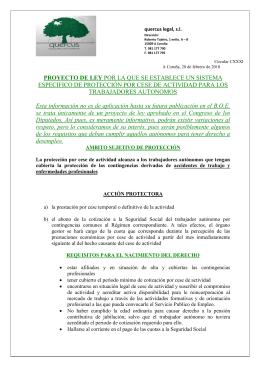 PROYECTO DE LEY TRABAJADORES AUTONOMOS