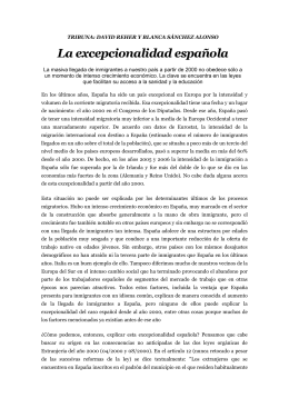 TRIBUNA: DAVID REHER Y BLANCA SÁNCHEZ ALONSO La