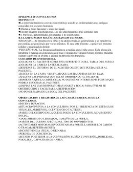 EPILEPSIA O CONVULSIONES.