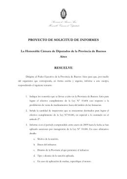 Provincia de Buenos Aires Honorable Cámara de Diputados
