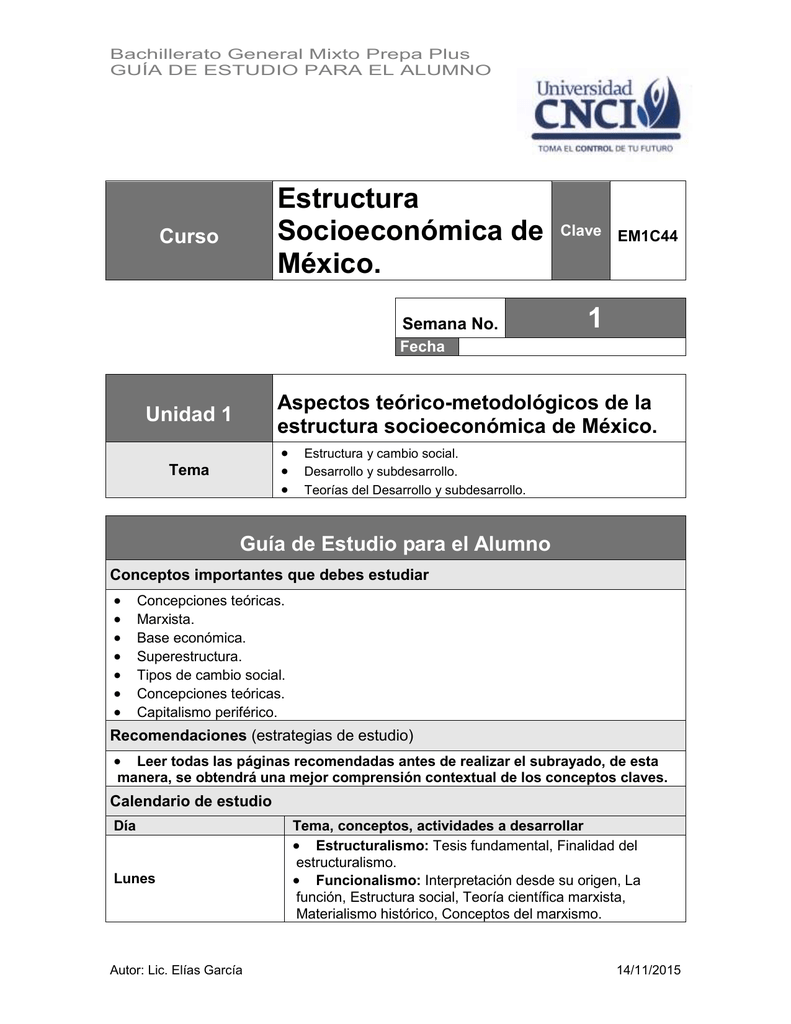 Estructura Socioeconómica De México 1