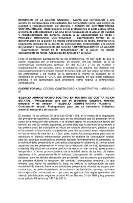 IDONEIDAD  DE  LA  ACCION  INCOADA  -... acción  de  controversias  contractuales  fue  demandado...