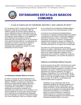 General Bulletin (Spanish) - CCSS (CA Dept of Education)
