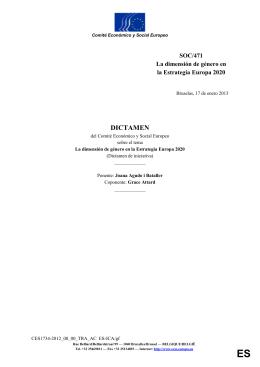 3. La EE2020 – un análisis de la dimensión de género