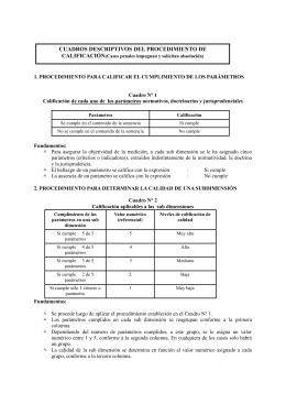 CUADROS DESCRIPTIVOS DEL PROCEDIMIENTO DE