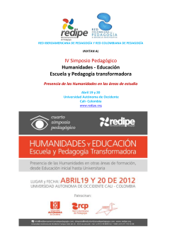 RED IBEROAMERICANA DE PEDAGOGÍA Y RED COLOMBIANA