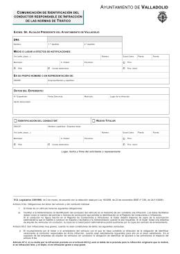 Comunicación de identificación del conductor responsable de una