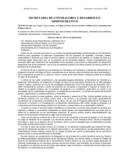 SECRETARIA DE CONTRALORIA Y DESARROLLO ADMINISTRATIVO
