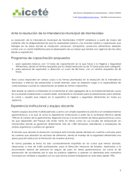 Ante la resolución de la Intendencia Municipal de Montevideo