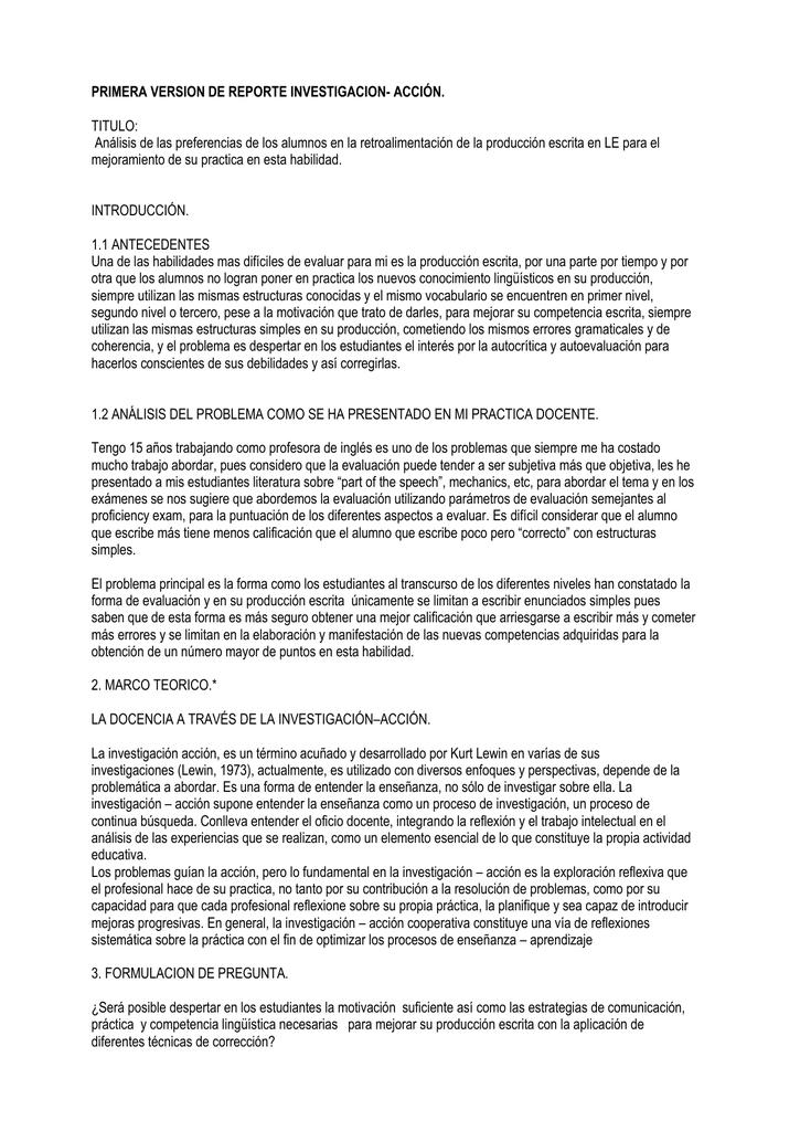 primera version de reporte investigacion- acción
