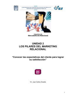 UNIDAD 2 LOS PILARES DEL MARKETING RELACIONAL