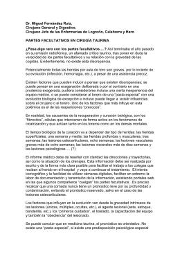PARTES FACULTATIVOS EN CIRUGÍA TAURINA