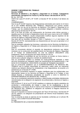 Decreto PEN Nº 1338/96 (B.O. 28/11/96)