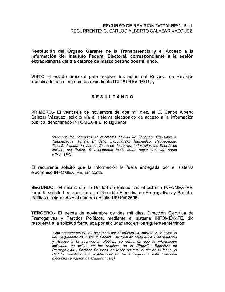 Resolución Ogtai Rev 16 11