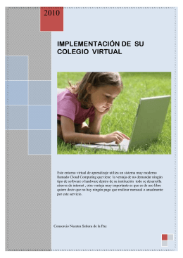 IMPLEMENTACIÓN DE SU COLEGIO VIRTUAL