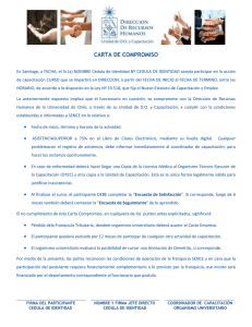 Carta Compromiso 2015 - Universidad de Chile