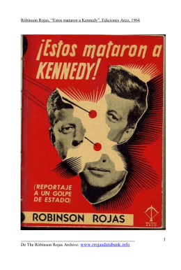 Estos mataron a Kennedy - The Róbinson Rojas Archive.