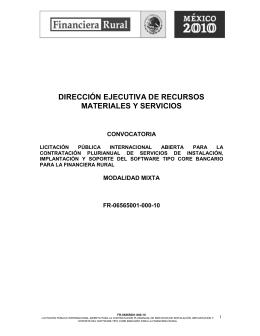 Dirección Ejecutiva de Recursos Materiales y Servicios