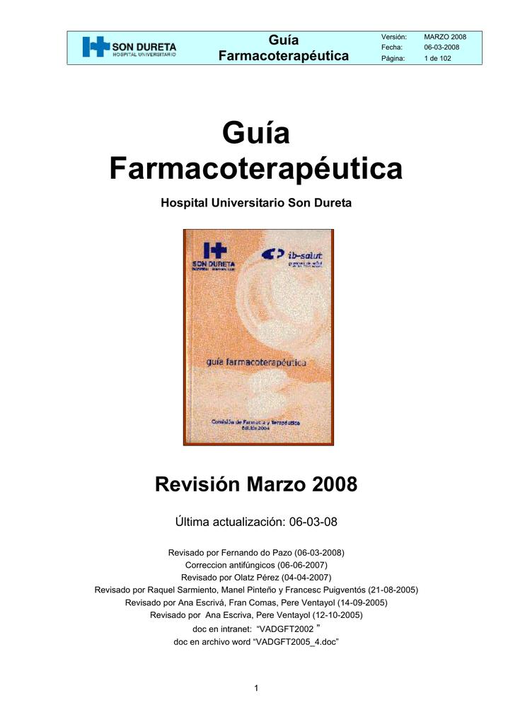 Guía Farmacoterapéutica Revisión Marzo 2008